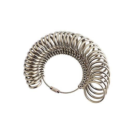 Kraeoke Ringgrössenmesser Ringstock Ringdorn Metall Ringmaß Ringmesser Finger | Größenstandard EU