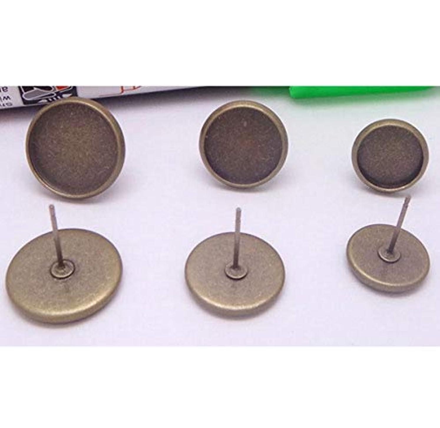 一般的に言えば名前羊FidgetGear 24個8-14mmガラスカボションフレンチレバーバックイヤリングブランクイヤリングベゼルベース ブロンズ