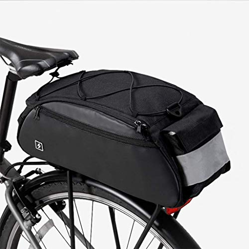Buy Cheap IhDFR Cycle Saddle ,10L Mountain Road MTB Bicycle Bike Cycling Sport Rear Seat Bag Pannier Trunk Bag Bicycle Accessories Shoulder Handbag Bag Pannier Black