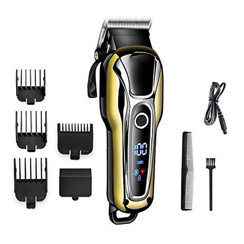 wiederaufladbare haar trimmer professional hair clipper haar rasieren maschine haar schneiden bart elektrische rasiermesser-Golden