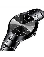 [チーヴォ]CIVO 腕時計 メンズ時計ステンレススチール アナログクオーツ防水ウオッチ 日付カレンダー シンプルデザイン おしゃれ ファッション ビジネス カジュアル メタル男性腕時計