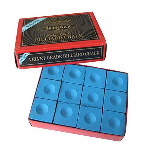 Fiween Hohe Qualität Box von 12 Billiard/Pool Cue Chalk Box, Billard Zubehör für Camping, Picknick und andere Outdoor-Aktivitäten