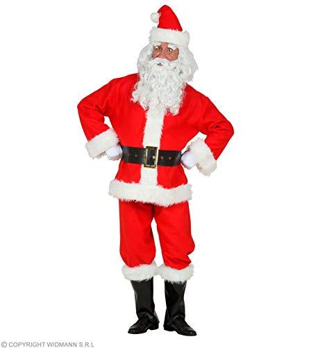 WIDMANN 52735-Kostm Weihnachtsmann 52735-Disfraz, chaqueta, pantalones, cinturn, cubrebotas, gorro, Pap Noel, Santa Claus, Navidad, Adviento, color rojo, XXL-3XL (52735)
