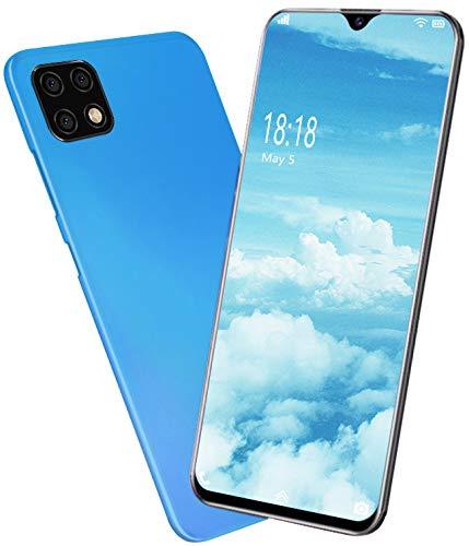 Teléfono Móvil 4G/WIF - Moviles Libres Baratos 3GB RAM 32GB ROM - Pantalla 6.0' - Dual SIM Dual Cameras 13+5MP - Face ID(Azul-2)