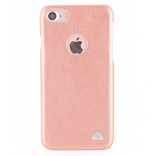 Stuffcool Single Tone Leather Hard Back Case Cover for Apple iPhone 7 - Shimmer Pink