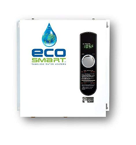 EcoSmart ECO 27 Electric Tankless Water Heater, 27 KW at 240 Volts, 112.5 Amps with Patented Self Modulating Technology (Renewed)