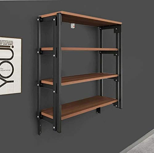 Convertible Console Table Shelf Bookshelf Kitchen Table Wall Mounted Foldable Both Table and Rack Custom Design Multiple Uses Smart Table Solid Metal Body