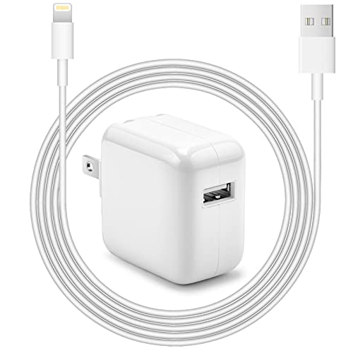 iPad Charger iPhone Charger [Apple MFi Certified] Ostrich by Novobit 12W USB Wall Charger Foldable Portable Travel Plug with USB to Lightning Cable Compatible with iPhone, iPad, Airpod