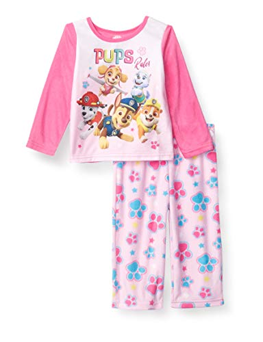 Favorite Characters Girls' Paw Patrol 2-Piece Pajama Set, PUPS Rule, 2T Toddler