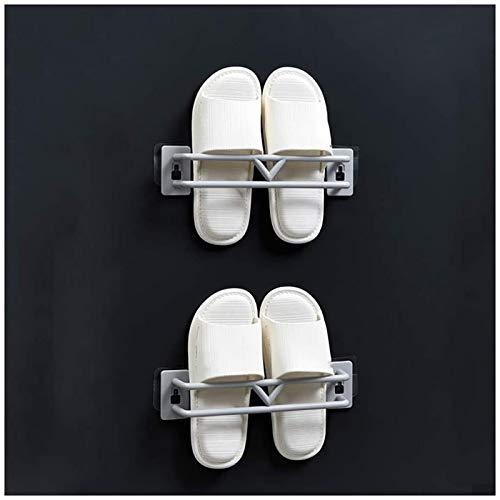 aipipl Estantes para Zapatos de 2 Piezas, Estante para Zapatillas de baño montado en la Pared para Colgar Zapatos, Toalla, Tapa de Olla y Otros