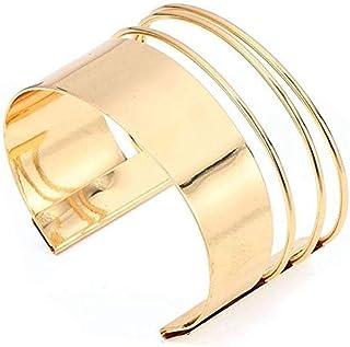 Fashion Femmes Plaqué or Punk bracelet manchette élégant Bracelet Bijoux Cadeau
