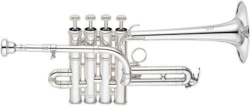 Yamaha YTR-9835 Bb / A Piccolo Trompet Zilver