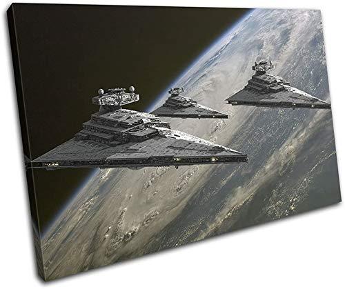 LOWW Star Wars Helden Laserscherter Leinandbild Wanddeko Wandbild, Kunstdruck für die Wand, Verschiedene Größen Rahmenlos (70x100cm,D)