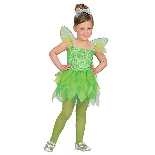 Widmann 48658 - Disfraz infantil de hada del bosque (98 cm), color verde , color/modelo surtido