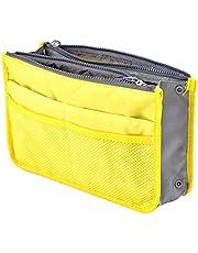 حقيبة سفر مضادة للماء لتنظيم الأغراض للجنسين، 13 جيب، اصفر