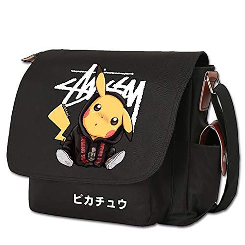ZZTX BAGGOS Anime Umhängetasche Canvas Messenger Bag Reisetasche Tasche Cartoon Umhängetaschen Spiel Logo Schultaschen Film Rucksack Tolles Geschenk für Kinder, Männer, Frauen,A