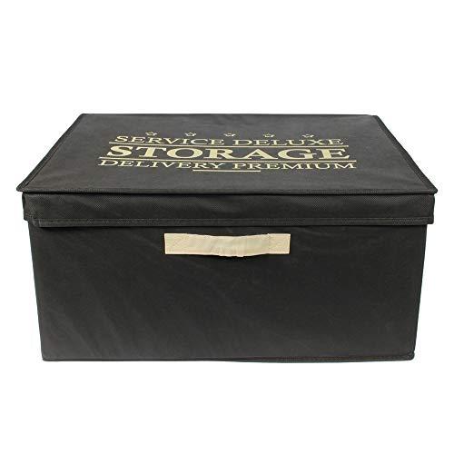 Je Cherche Une Idee - Boite de Rangement Pliable Noir 50L - Dimensions : 50 x 40 x 25 cm RG9165/WEB