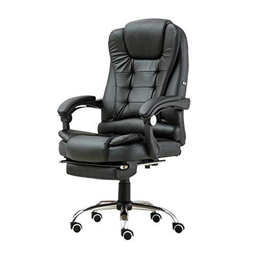 WRJ 360 Massage Executive Chair Office, Desk Swivel Gaming with Function Height-Adjustable Gamer Ergonomic Adjustable Lumbar Support,Schwarz