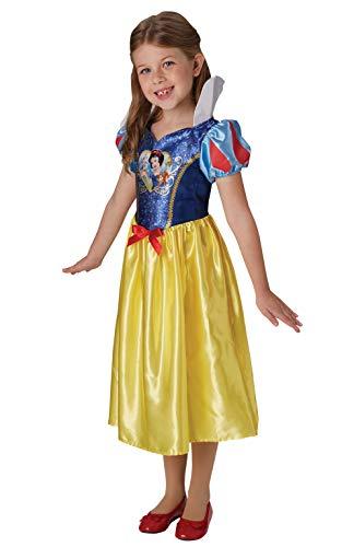 Rubie's Offizielles Disney Prinzessin Pailletten Schneewittchen Klassisches Kostüm Kinder Größe S Alter 7–8 Jahre, Höhe 128 cm