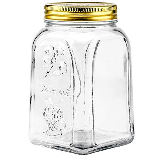 Baoblaze Aufbewahrungstopfbox für Glaskühlschränke mit versiegeltem Obst-Lebensmittelbehälter für den Heimorganisator - 8,5 x 8,5 x 17 cm