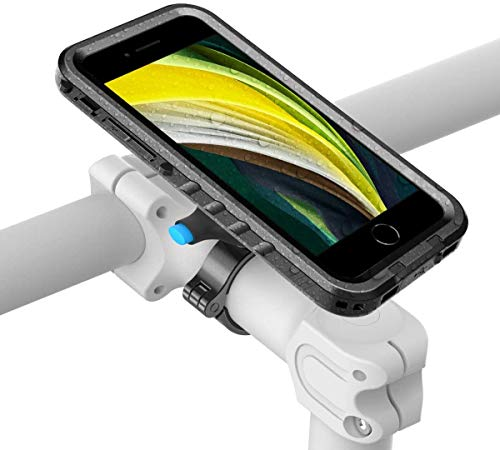 SPORTLINK Metal Soporte de Celular para Bicicleta - Funda impermeable para bicicleta para iPhone SE2,iPhone 7/8, Soporte para manillar de motocicleta - A prueba de caídas   A prueba de polvo   Ajustable   Accesorios de ciclismo resistentes
