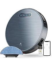Robotstofzuiger 3 uur autonomie 4500 MAH Robotstofzuiger Wifi met 2000 Pa-zuigkracht, Alexa/Google-thuistoepassing/afstandsbediening ideaal voor dierenhaar Kort tapijt Lefant-M571