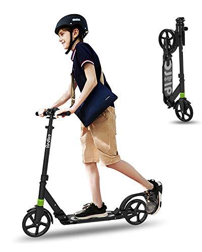 REDLIRO Kick Scooter for Teenager Trick UltraLight Aluminum Pole and Adjustable Handlebar Quality Freestyle Kick Complete Scooter for Beginner Kids Boys Girls Teens Ages 8