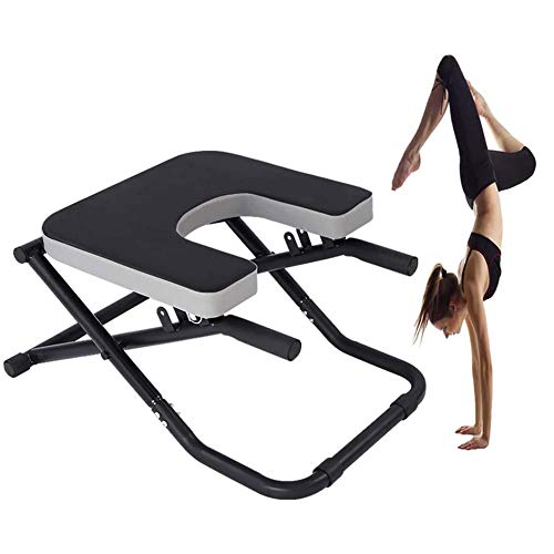 Find Bargain MFBZYU Yoga Inversion Chair Equipment Yoga Headstand Bench Foldable Yoga Stool Handstan...