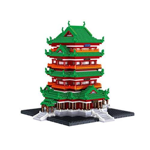 Kunze 3312 Miniatura Bloques de construcción China Antigua Arquitectura Nano Juguetes Miniatura de módulos previstos for la Infancia (Tengwang Pabellón)