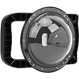 Carcasas para fotografía subacuática Ángulo de visión Amplio de 180 ° Cámara Deportiva Domo de Buceo Estabilizador de Doble Mango Empuñadura Flotante para Gopro Hero 8 cámara Deportiva