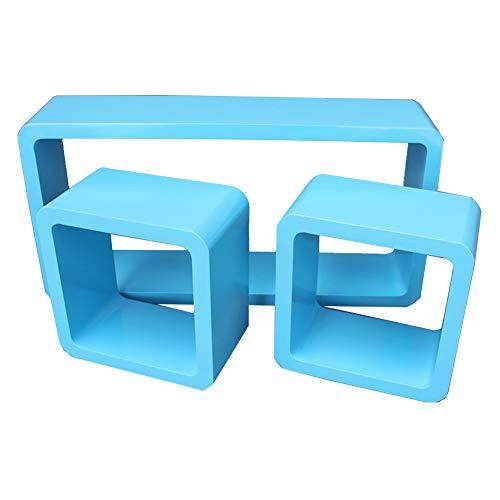 Hh001 TV-Hintergrund Wanddekoration Wandgitter Storag Rack-Wand Trennwand TV-Schrank Regal Blau