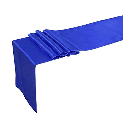 TiaoBug Satin Tischläufer Tischwäsche Tischband Tischdecke Hochzeit Deko 30x275cm/12x108inch...