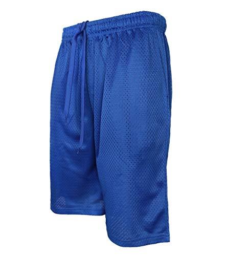 StyLeUp Men's Active Athletic Mesh Basketball Gym Shorts (MESH RB 4XL) Royal Blue