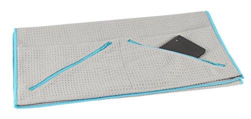 Bellanet Premium microvezel sporthanddoek, absorberend, sneldrogend en extra licht, sport- en badhanddoek met 2 hoekzakken, ideaal voor fitness, sauna, outdoor, yoga, reis