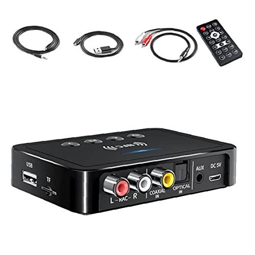 Transmisor Bluetooth Receptor 3 en 1 NFC FM Transmisor Adaptador Bluetooth Inalámbrico HIFI Estéreo Audio 3.5mm AUX RCA USB óptico para PC/TV/Coche