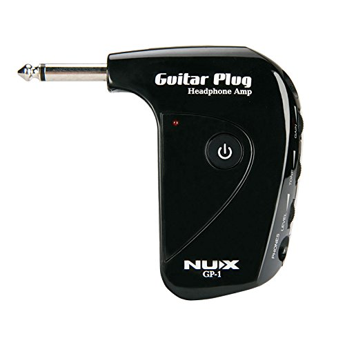 NUX GP-1 Portable Guitar Plug Headphone Amp with Classic Distortion