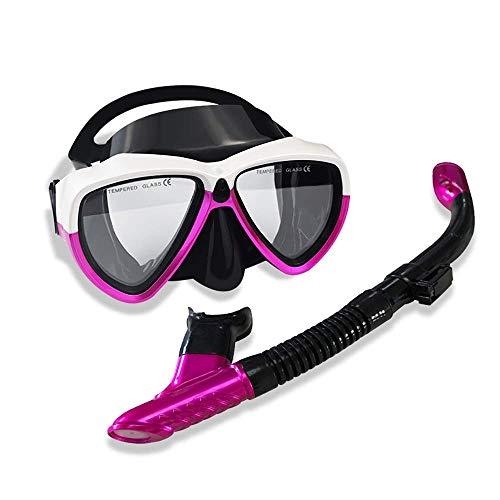 ZHUYUE Comfortabel duikmasker snorkelmasker duikbril professionele snorkel voor duiksporters beginners Full Face masker snorkel (kleur: Multi-2, maat: One Size)