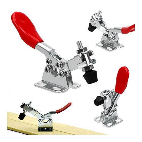 Schlauchschelle 1/2/4 Pcs Clamp Horizontal Toggle Clamp Tischler Clamp Schnellspanner Abrazadera Senkrechtspanner for Holzbearbeitungs Rohrbefestigung (Color : 1pc)
