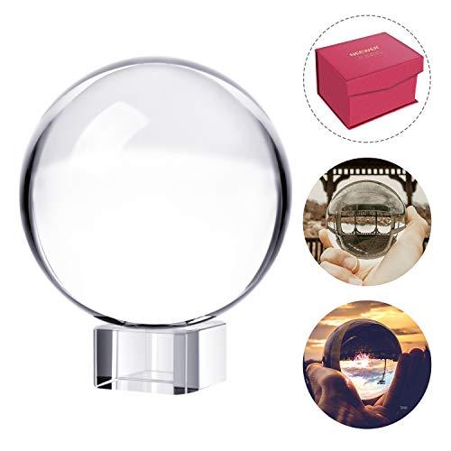 Neewer Pro 80mm K9 Kristallkugel mit Ständer Wischtuch Beutel und Box Kristall Sonnenfänger Ball für Fotozubehör und Foto Requisiten Dekoration...