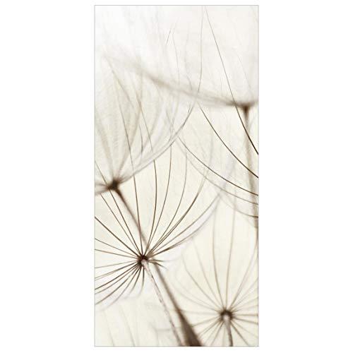 Flächenvorhang Gentle Grasses 250x120cm | Hängende Raumteiler Raumteiler Raumteiler Vorhang Raumteiler Vorhang Raumteiler Panel Rollo Wandbild Dekor | Maße HxB: 250x120cm inkl. transparentem Aufhänger