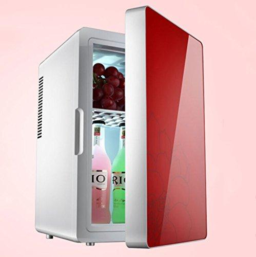 Glacière électrique Réfrigérateur de la voiture 16L mini petit réfrigérateur boîte de refroidissement de voiture (Couleur : Rouge)