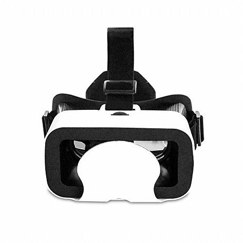 GZZ Head-Mounted VR-Brille Handy Gewidmet, VR Virtual-Reality-Brille 4D Holographische Brille Spiel Myopie,Weiß,Einheitsgröße