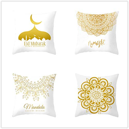 LOYYE Throw Pillow Case Cushion Covers Lace Velvet Soft Decorative Square Double-Sided Pillowcases for Livingroom Sofa Bedroom with Lnvisible Zipper Car Home Decor Set of 4 T1680 60x60cm/23.4x23.4in