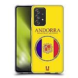 Head Case Designs Bandera De Andorra Remiendos de La Bandera Carcasa de Gel de Silicona Compatible con Galaxy A52 / A52s / 5G (2021)