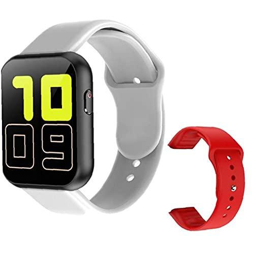 Tuimiyisou Contacto pleno Bluetooth SmartWatch con el corazón Rojo X6 Prueba de Repuesto Correa de frecuencia Plus Deportes Pulsera Inteligente, Conveniente para los Hombres de Gris