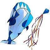 Lewpox Cometa 3D, Cometa Dolphin, Cometa Creativa con Cometa acrobática Grande y Suave sin Marco para niños