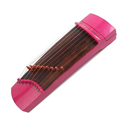 N /A Guzheng, Mini Guzheng, Guzheng Finger Trainer mit Zubehör, Protable, Größe: 45 × 14 cm, 9 Streicher, Geeignet for Anfänger, Erwachsene, Kinder