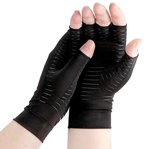 Arthritis Gloves, Comfy Brace Arthritis Hand Compression Gloves, Comfortable and Breathable, Copper...