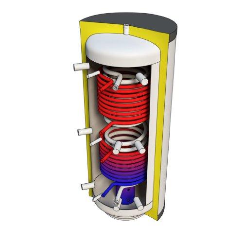 Hygienespeicher 800 Liter mit 2 Solarwärmetauschern