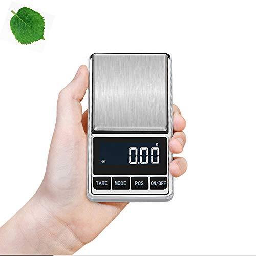 HEEGNPD Mini Taschenwaage Küchen wiegende Skala elektronische Waage Schmuck Waage Gold-Genauigkeit 0.01g Genauigkeit